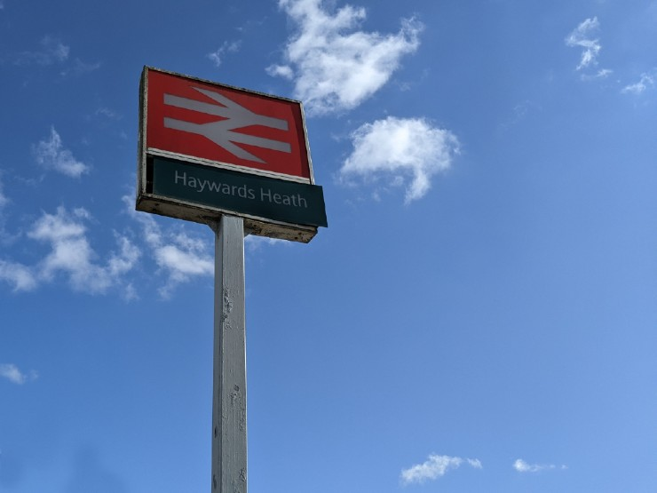 Haywards Heath train station sign
