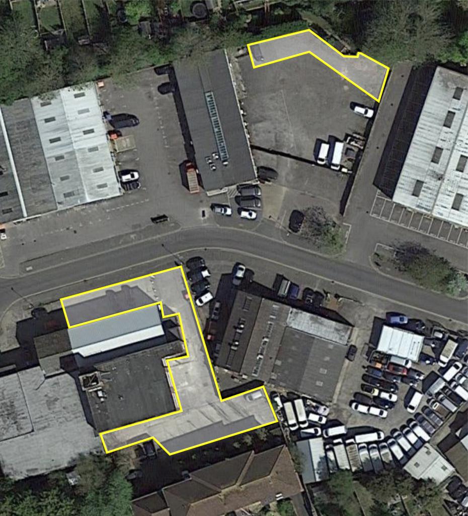 Delta House, Bridge Road Industrial Estate, Haywards Heath, parking aerial view